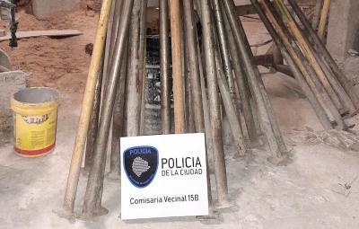 Detienen a cuatro hombres que robaban en una obra de Villa Crespo
